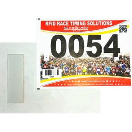 Number Bib for racing timing with 1 integrate foam tag (1000 uds)