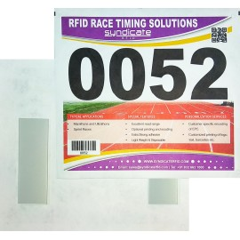 Number Bib for racing timing with 2 integrate foam tag (1000 uds)