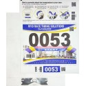 Number Bib with 1 Shoe Lace Tag Transponder (1000 units)